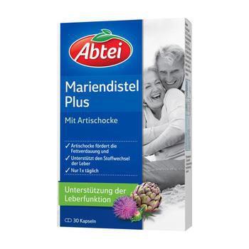 Abtei Mariendistelöl Plus Artischocke mit Vitamin E Kapseln gesunde